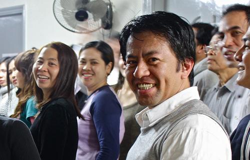Filipinos attending choir practice